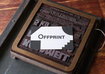 Visitenkarte Offprint
